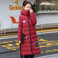 Winter Korean version of the knee cotton clothes winter women's jackets thick cotton jacket students bread clothing cotton