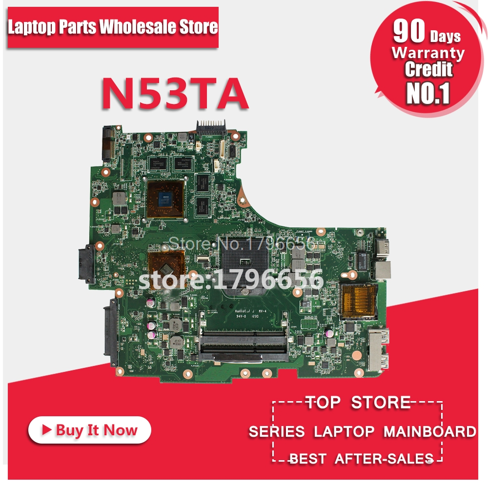 N53TA Motherboard HD6380G REV 2.0 For ASUS N53T N53TA N53TK laptop Motherboard N53TA Mainboard N53TA Motherboard test 100% OK coonor j12 9 1bb metal spool fishing reel 5 1 1 gear ratio spinning reel full metal spool with double t shape handles