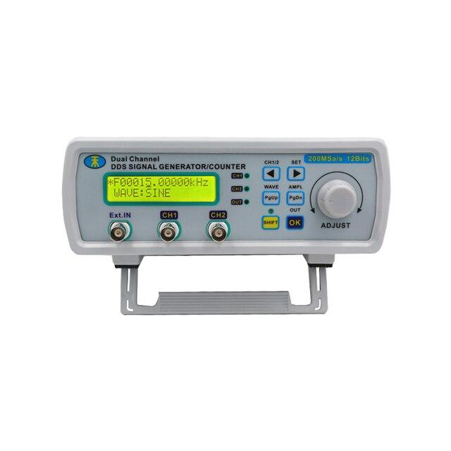 Высокая точность MHS-5200A цифровой DDS двухканальный источник сигнала Генератор произвольных 25 мГц сигнала частотомер скидка 15%