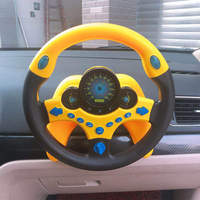 25cm Electric Musical Simulation Steering Wheel with Light Kid's Baby Toy Pretend Play Educational Toys for Children Driving Toy