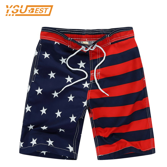 ceb6ce9211 New Beach Shorts For Boys Surf Board Short Custom Swim Trunks Pentagram Kids  Sport Wear American Flag 7-14yrs Board Shorts