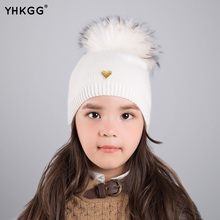 Yhkgg 2016 marque de nouveaux modèles de l'enfant automne et d'hiver laine à tricoter tricoté chapeau oreille bonnets Hiver Chaud Chapeau Tricoté cachemire