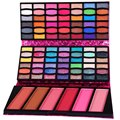 Elegant Shining 90 Full Colors Glitter Eyeshadow Palette Kit Portable Long Lasting Waterproof Leather Purse Cosmetic Set
