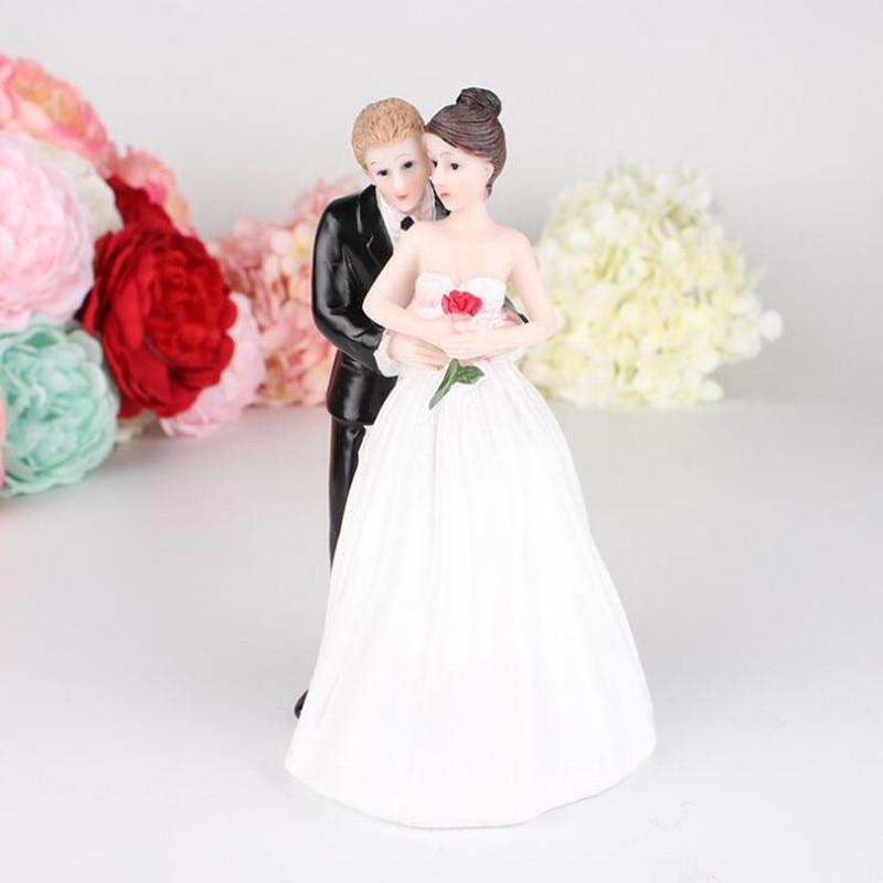 Romantisk Figur Bride Brudgum Kram Till Bröllopstårta Toppers Dekor - Semester och fester