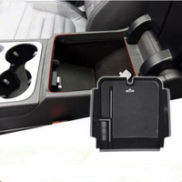 Car Styling Dedicated Modified Central Armrest Storage Box Glove Tray Pallet Case For Volkswagen Vw Touareg
