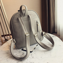 Women's Small PU Leather Backpack