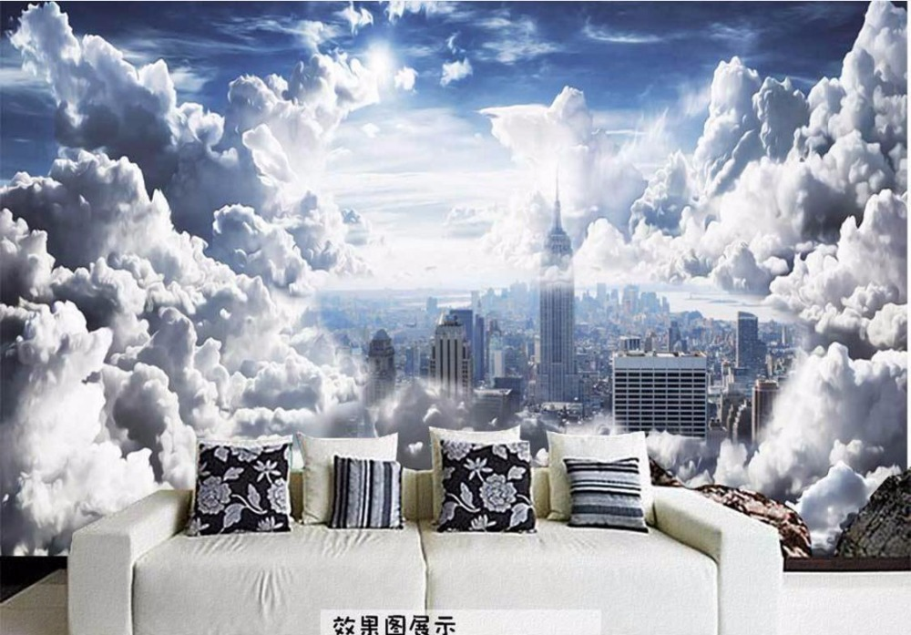 Hd Aesthetic Sky White Clouds Wall Papers Home Decor 3d Wallpaper