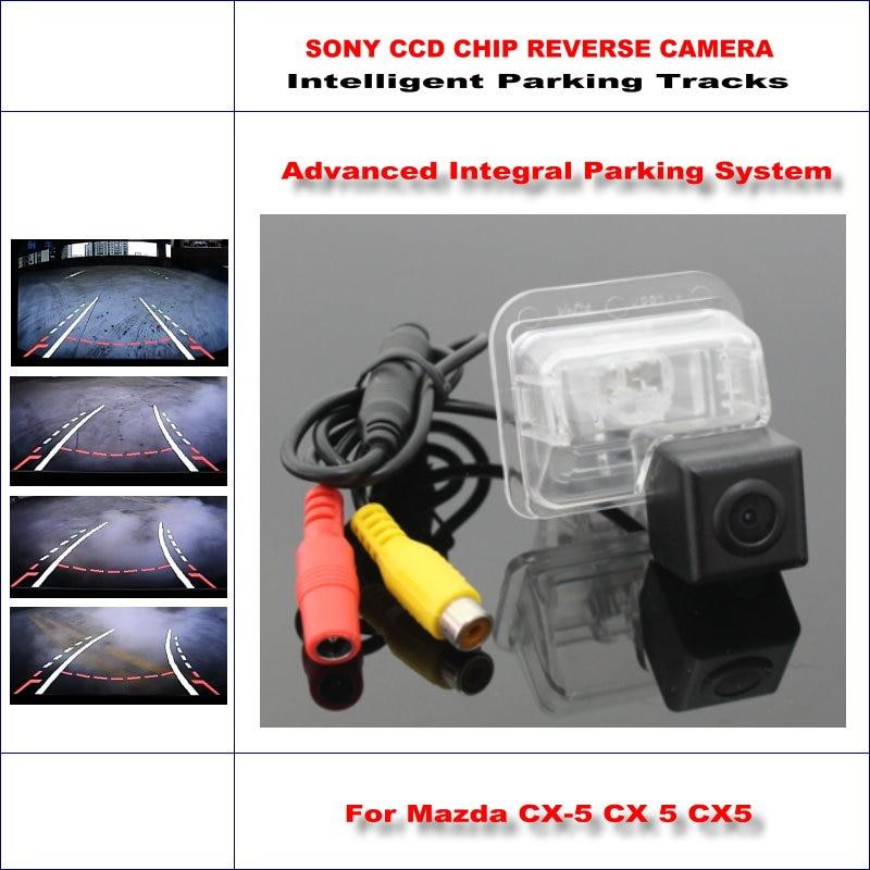 ФОТО Backup Rear Reverse Camera For Mazda CX-5 CX 5 CX5 / HD 860 Pixels 580 TV Lines Intelligent Parking Tracks