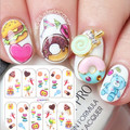 Nail Art Water Decals Colorful Yummy Icecream Cake Pattern Nail Transfer Stickers  #BOP071