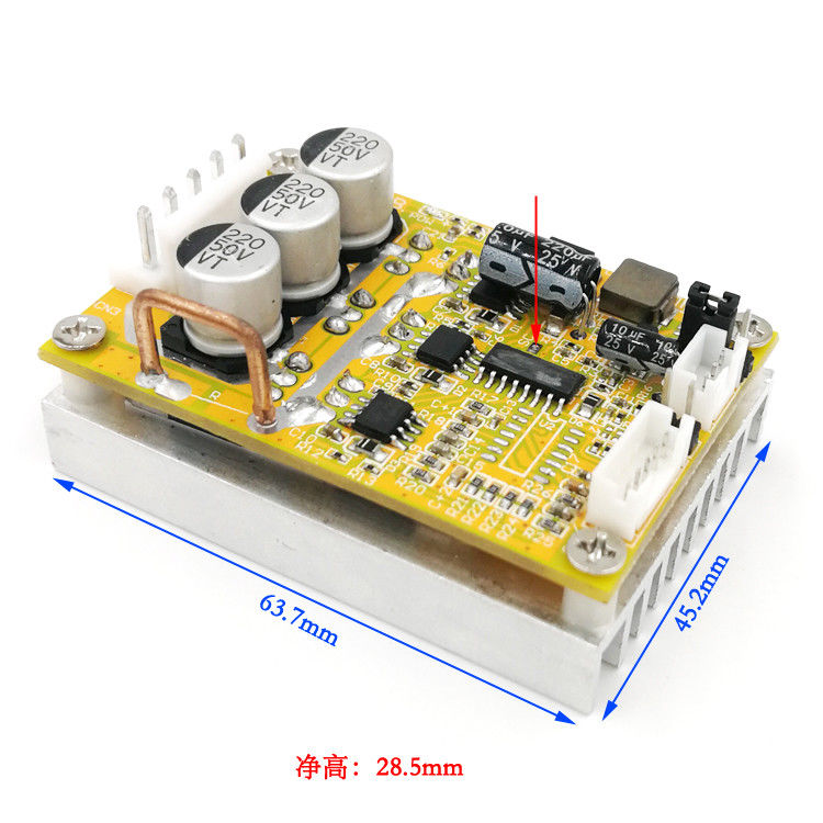 Image 3 - 6 72V 450W BLDC 3 phase DC Brushless Motor Controller PWM Hall motor Control Driver Board  12V 24V 48V 72V Forward Reverse-in Integrated Circuits from Electronic Components & Supplies