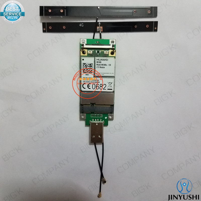 JINYUSHI for ME909S-120+transfer card+2pcs 4G antenna  100% NEW&Original  Mini PCIe FDD LTE 4G WCDMA GSM Support GPS Module jinyushi for 5pcs lot sim7100a 4g 100% new
