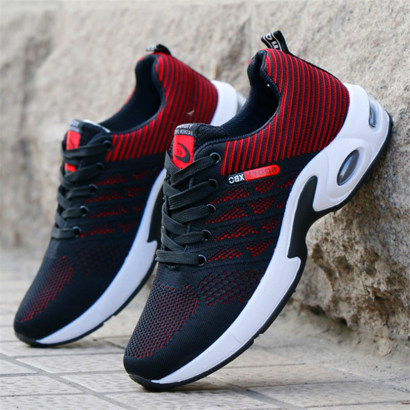 New all seasons, wild, flying, woven, running, air cushion, breathable, fashionable, youth, mens shoes