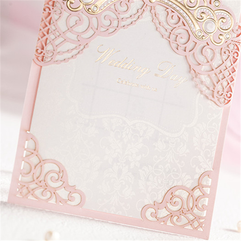 Elegant pink castle wedding event party supplies romantic fashion elegant pink castle wedding event party supplies romantic fashion paper decoration romantic guest invitation inviting card in cards invitations from home stopboris Gallery
