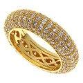 Anillos de boda para hombres y mujeres Con AAA CZ diamond joyería de moda 18 K Chapado En Oro y Platino Plateado Moda joyería