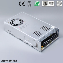 цена на Best quality 5V 45A 250W Switching Power Supply Driver for LED Strip AC 100-240V Input to DC 5V free shipping