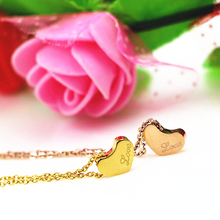"2016 New brand Creative Inclined Hung ""love"" Heart Pendants & Necklaces jewelry Best Valentine's Day & Christmas Gifts Women"