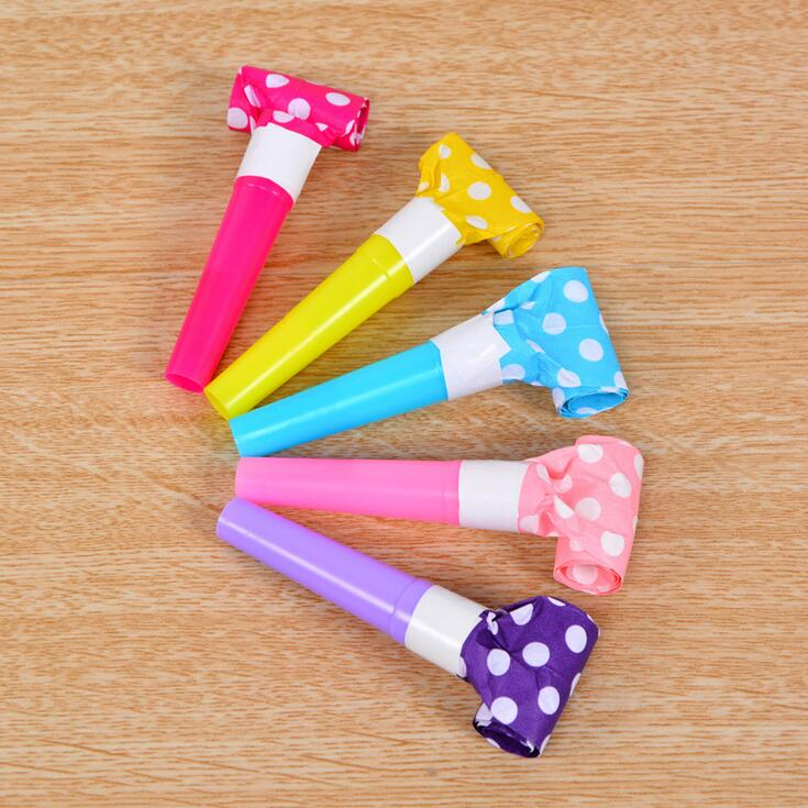 6Pcs/Bag Small Multi Color Party Blowouts Whistles Kids Birthday Party Favors Decoration Supplies Childrens Birthday Decoration