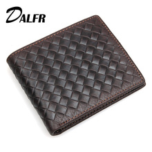 DALFR Genuine Leather Mens font b Wallets b font Card Holder Money Purse for Men Solid
