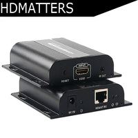 LKV383 HDbitT HDMI extender IR over routers by cat6/7 cable up to 120M(sender or receiver only) supports 1 TX to N RX
