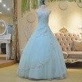 Verdadeiro Amostra 2016 Nova Primavera Plissado Lantejoulas Apliques Vestidos De Novia Do Vestido de Casamento vestido de Baile vestido de Graciosa Fino Do Vestido de Casamento WD0040