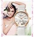 Chenxi reloj de la marca de descuento relojes de las mujeres reloj de cuarzo de cuero caliente fecha display reloj de pulsera de regalo de oro y plata