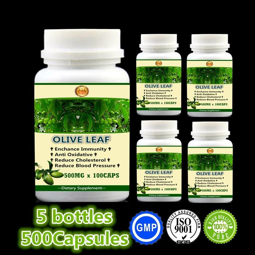 2017 New Arrive Olive Leaf, Enchance Immunity Anti Oxidative Reduce Cholesterol 100% Safe - 5 bottles - Free Shipping 1kilos 35 2oz olive leaf extract 20% oleuropein powder free shipping