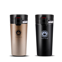 Stainless Steel Tumbler Vacuum Insulated Coffee Cup Double Wall Travel Flask Mug ( 380ml / 12oz) and Bottle Brush(China)