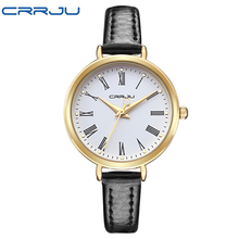 New Arrival CRRJU Luxury Brand Quartz Watch Women Small Round Dial Watches Ladies for Girl Fashion Quartz-watch Relojes Mujer