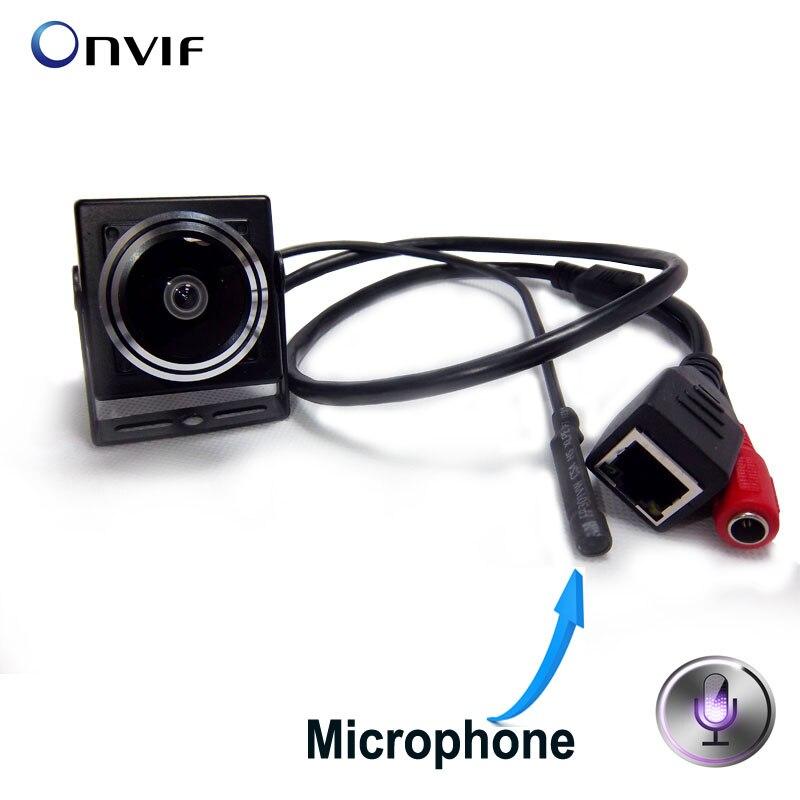 bilder für 1080 P Audio video kamera MINI ip-kamera H.264 mikrofon kamera P2P netzwerk für 1,78mm Weitwinkel Fischaugen-objektiv Fisheye-objektiv
