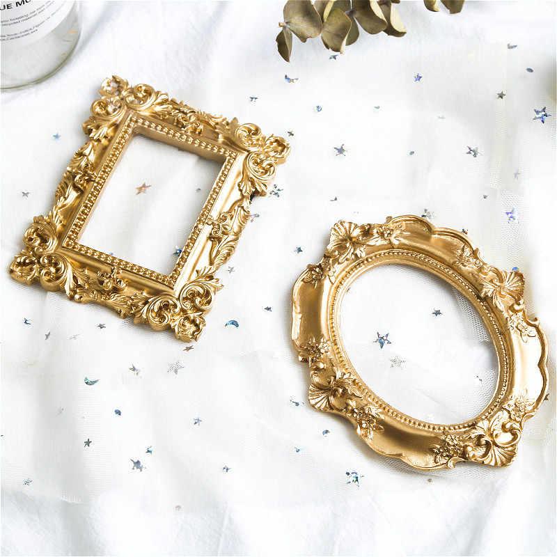 ヴィンテージフォトフレームゴールド額縁家の装飾レトロ写真小道具の結婚式の写真フレームギフトデスク装飾飾り
