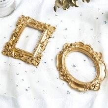Marco de fotos Vintage marco de fotos dorado decoración del hogar Retro Accesorios de fotografía marcos de fotos de boda regalos decoración de escritorio ornamento
