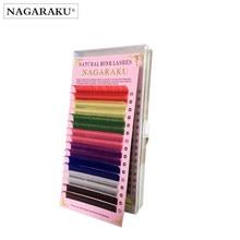 ed375136834 NAGARAKU 16rows macaron 8 Colors Rainbow Colored Eyelash Extension Faux  Mink color eyelashes colorful eyelash maquiagem cilios