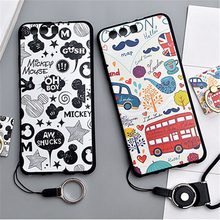 Huawei P10 Case Cute Animals 3D Relief soft Silicone TPU Phone Back Cover Case For Huawei P10 Plus case Coque with ring holder