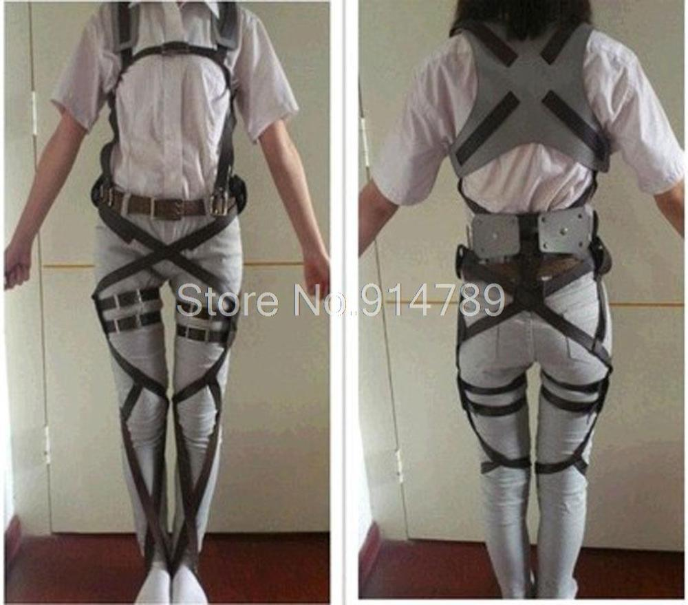 Attack On Titan Shingeki No Kyojin Cosplay Cool Belts Adjustable Harness Straps