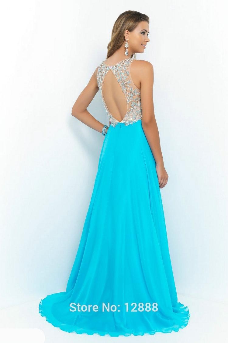 Style 9917 Honeydew Orchid Pool Chiffon Backless Prom Dress vestidos ...