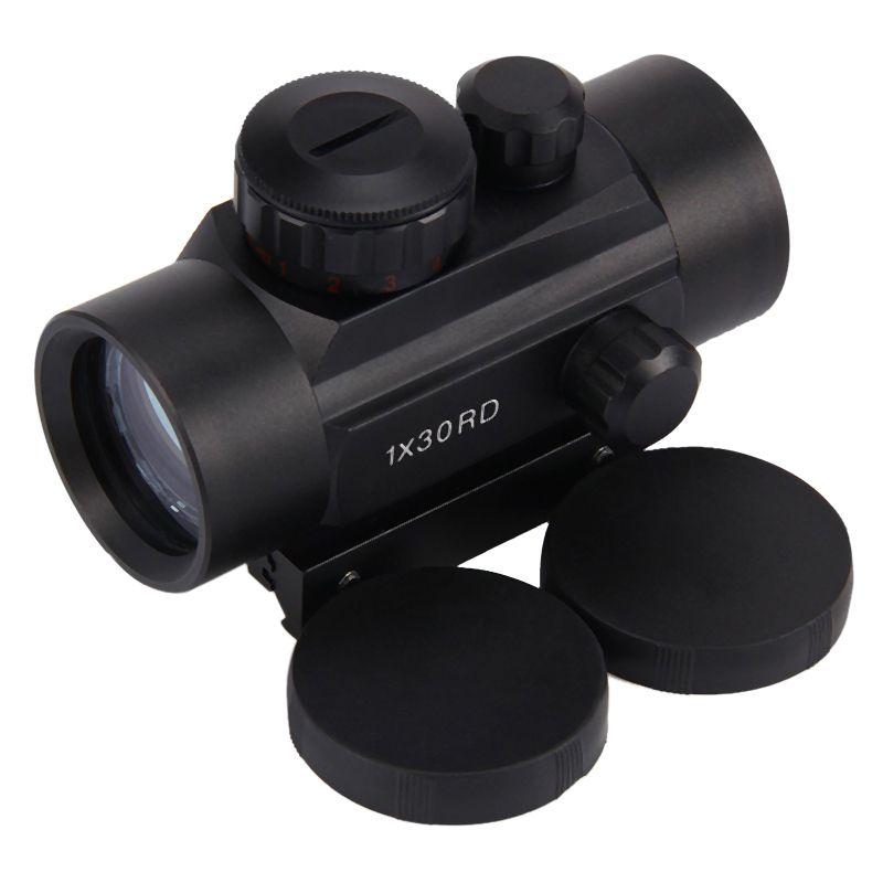 Creativo 2018 1 Juego 1x40 Riflescopes Tácticos De Caza Rojo Verde Puntos Holográficos Vista óptica Ajustable Pistola De Fuego Alcance