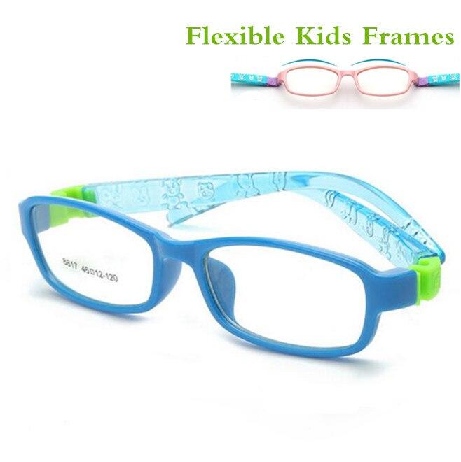 Bendable No Screw Kids Frame Glasses Boy Child Glasses Flexible Children Frames Eyewear TR Optical Glass 8817