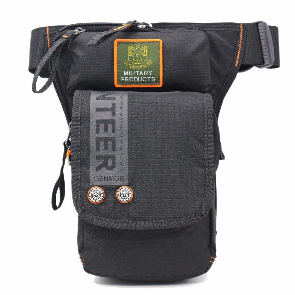 Motorcycle Rider Men Military Fanny Waist Pack Belt Hip Bum Drop Thigh Pouch Crossbody Shoulder Bags Oxford Leg Bag