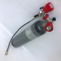 With Valve Filling 3L 4500psi 30Mpa Carbon Fiber SCUBA Tank With Empty Weight 2kg For Airforce