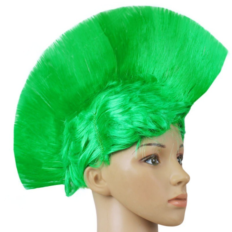 Hot Rainbow Mohawk Hair Wig Fancy Costume Punk Rock Wigs Halloween Cosplay Party 6