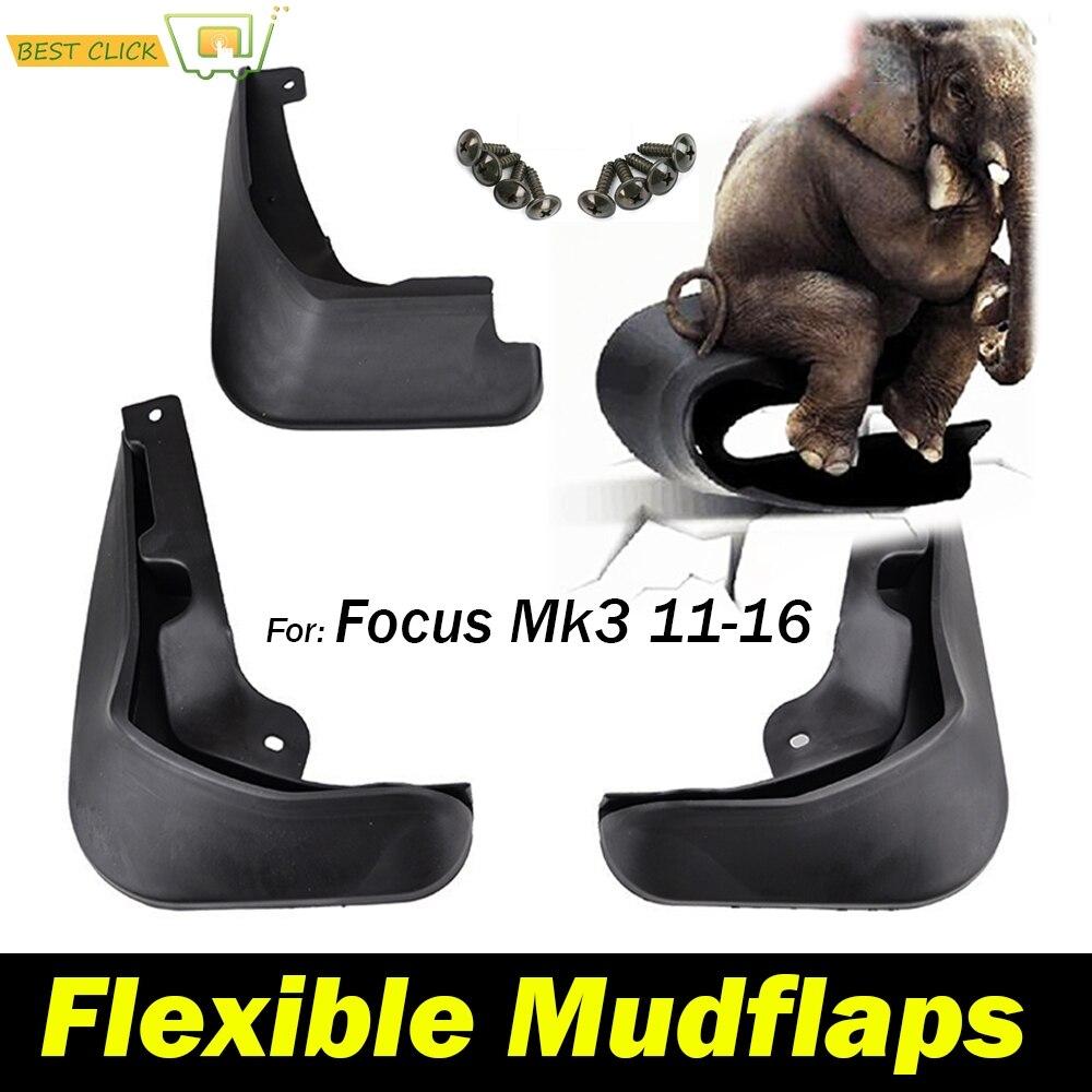 Mud Flaps For FOCUS MK3 SEDAN 2012-2016 Molded Splash Guards Fender Black
