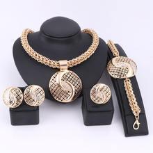 Ювелирные наборы ручной работы из Дубая золотого цвета модные