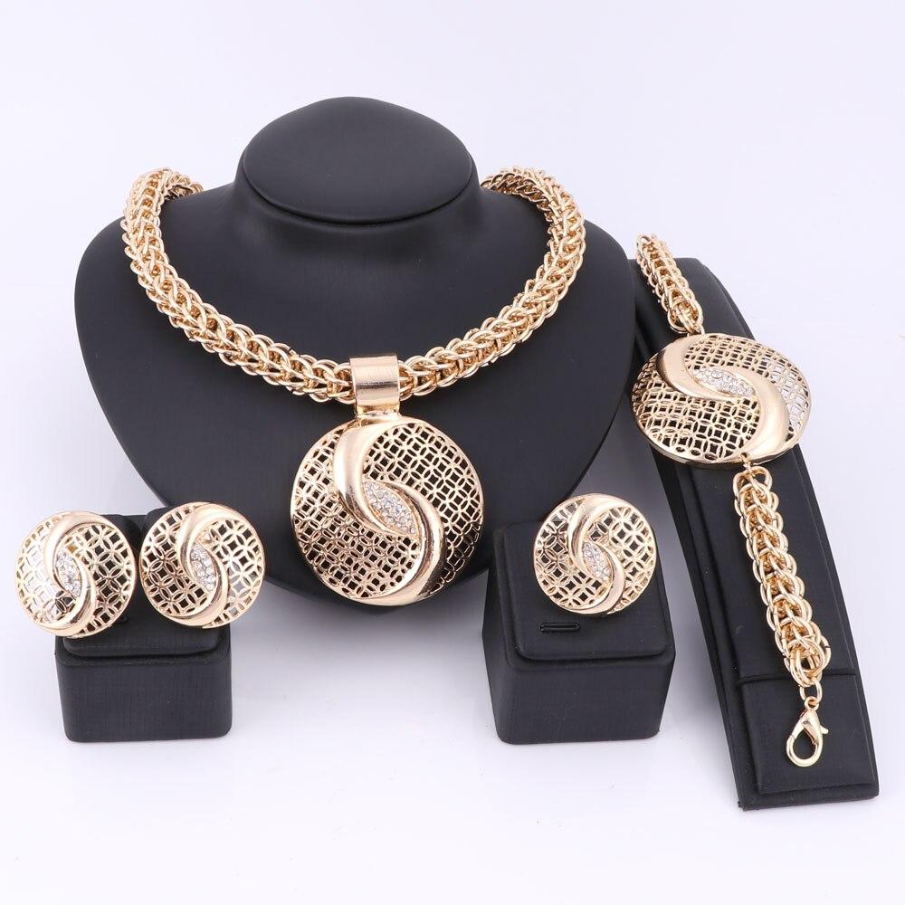 Handgemachte Dubai Gold Farbe Schmuck Sets über Gild Fashion Big - Modeschmuck - Foto 1
