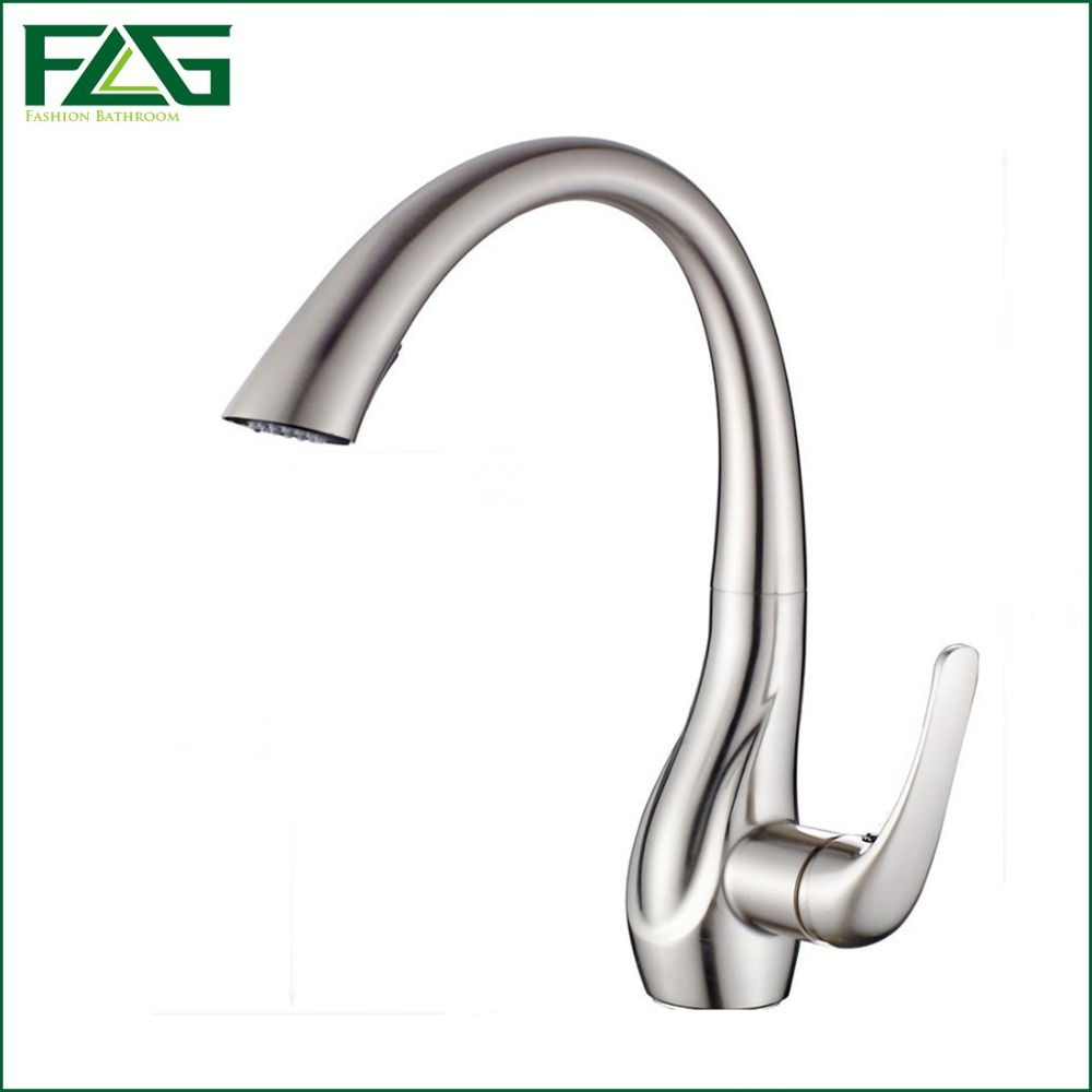 popular kitchen faucets sale buy cheap kitchen faucets sale lots flg factory direct sale kitchen faucet vessel sink mixer tap deck mounted brushed nickel pull down