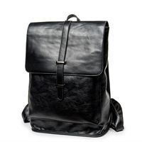 High Quality Practical PU Leather Men Backpack Famou Brand Casual Men Laptop Backpack High Capacity Black