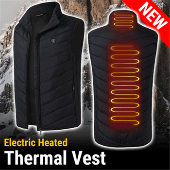 New Product Suitable For cold weather Men or Women Electric Heated Thermal Vest Heating Waistcoat Warm Winter Outdoor vest 1