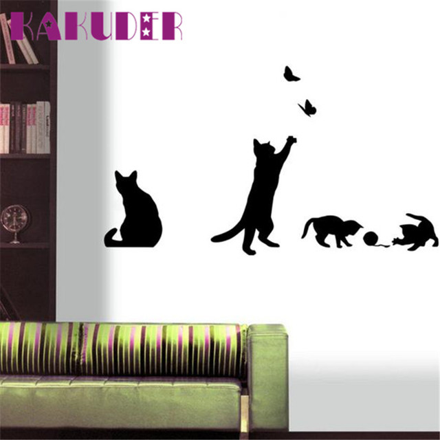 Fashion Wall Decor online shop fashion wall stickers cat stickers living decor tv