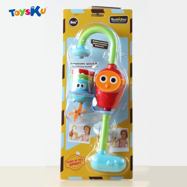Nuevo estilo de baño ducha de bebé juguetes play grifos/reforzado música aerosol de la ducha de agua de pulverización electrónica