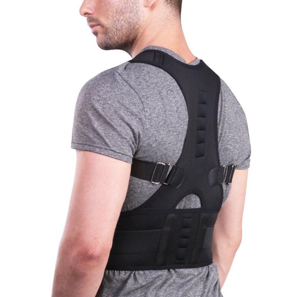Ajustável Magnetic Posture Corrector Corset Voltar Brace Corrector de Volta Cinto de Apoio Lombar Em Linha Reta de espalda