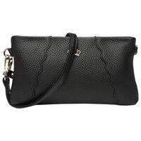 Fashion Crown Rivet Soft Genuine Leather Evening Clutches Clutch Purse Women's Shoulder Crossbody Bag Ladies Wristlet Handbag